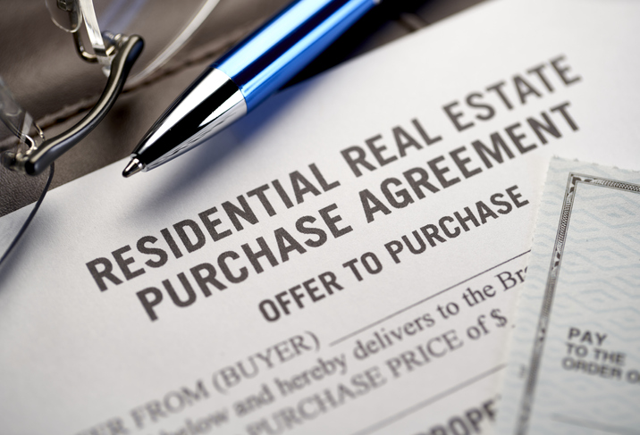 residential real estate purchase agreement document