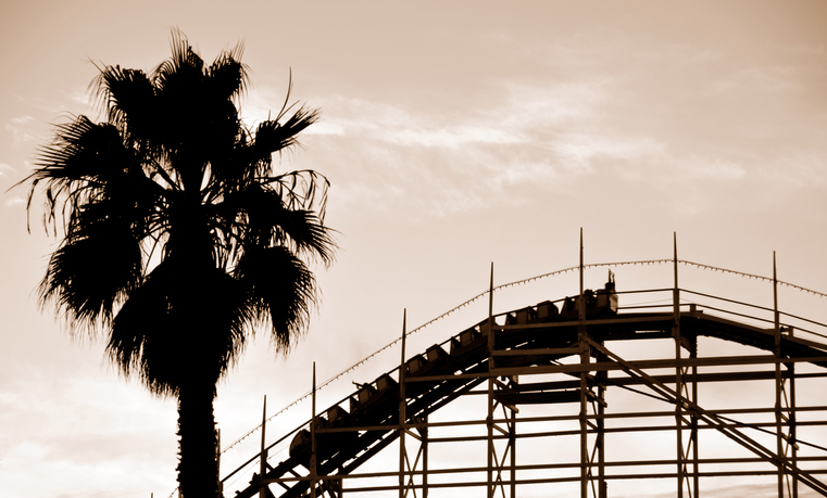 roller coaster ride in San Diego's amusements parks