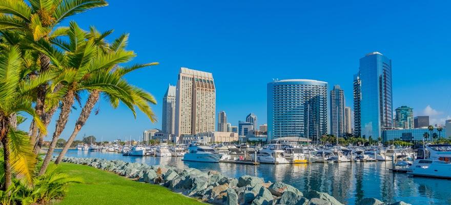 Downtown San Diego Skyline and Bay