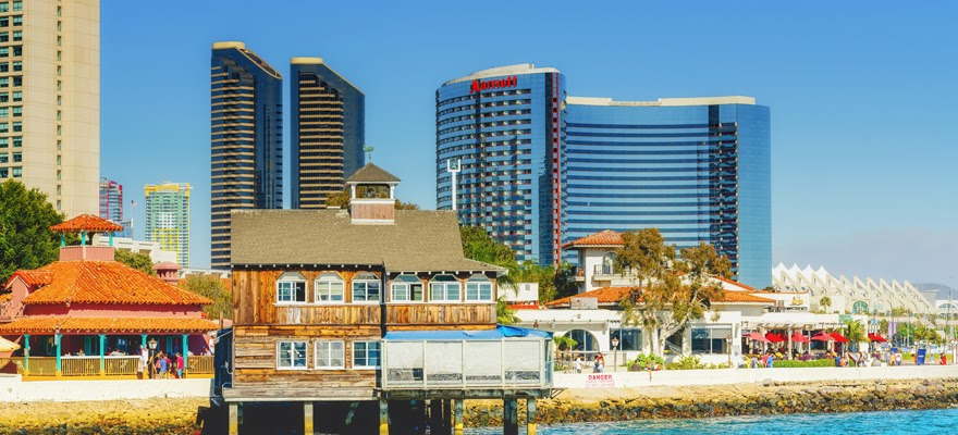 A Front View of the San Diego Pier Cafe during the Day